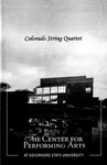Colorado String Quartet by Center for Performing Arts