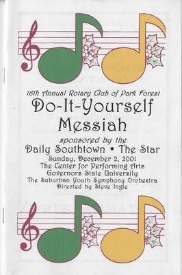 2001 2002 season memorabilia of the center for performing arts at do it yourself messiah solutioingenieria Image collections