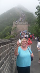 Pierre at the Great Wall of China with GSU President Elaine Maimon