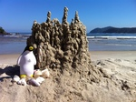 Pierre with Sandcastle