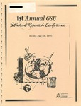 1st Annual Governors State University Student Research Conference Proceedings by Shailendra Kumar Ph.D., Editor