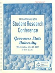 7th Annual Governors State University Student Research Conference Proceedings by Shailendra Kumar Ph.D., Editor