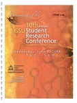 10th Annual Governors State University Student Research Conference Proceedings by Shailendra Kumar Ph.D., Editor