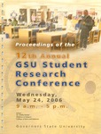 12th Annual Governors State University Student Research Conference Proceedings by Shailendra Kumar Ph.D., Editor