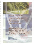 13th Annual Governors State University Student Research Conference Proceedings by Shailendra Kumar Ph.D., Editor
